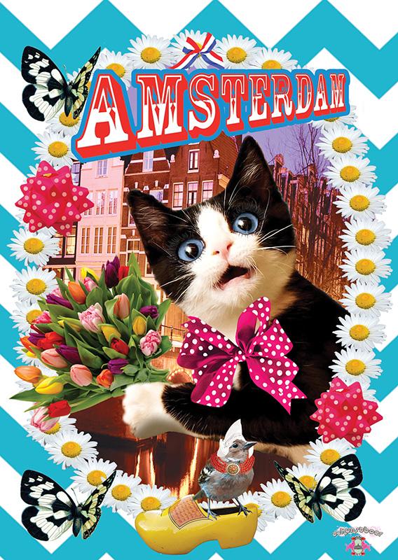 KAART FREAKY CAT