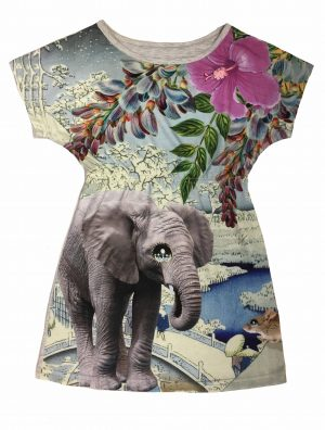Kleid mit Elefanten